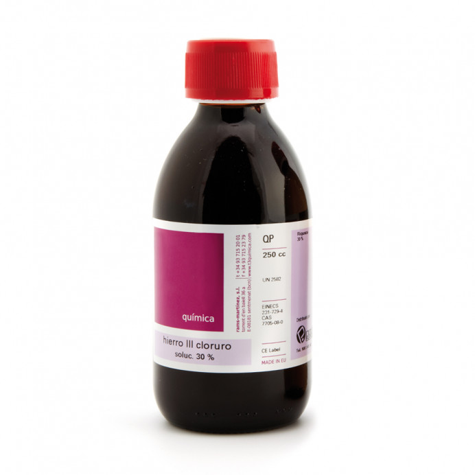 Cloruro de hierro III 30% solución...