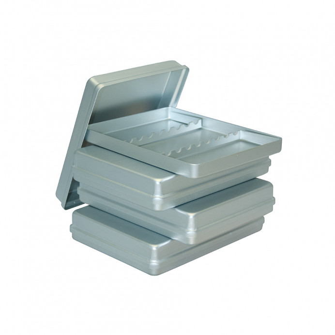 CAJA Porta instrumentos. Aluminio Plata