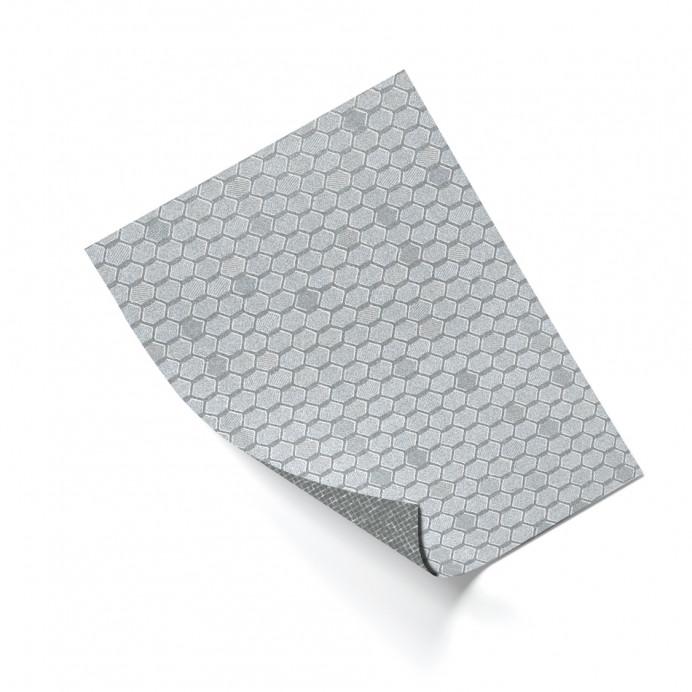 FLEX HEXAGON Plata 2 mm. 100x75 cm.